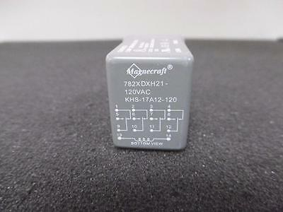 New Schneider Magnecraft 782XDXH21-120VAC 5AMP Hermetically Sealed Plug-In Relay