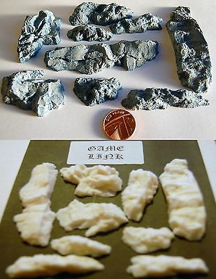 9 x DETAILED ROCK PLASTIC  FEATURES FOR WARHAMMER & MODEL TRAIN SCENERY