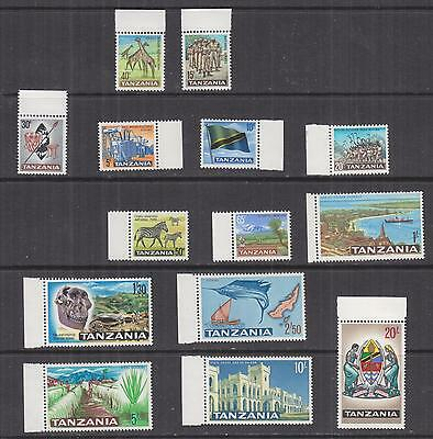 TANZANIA, 1965 definitive set of 14, mnh., lhm. in margins, 1s., lhm.