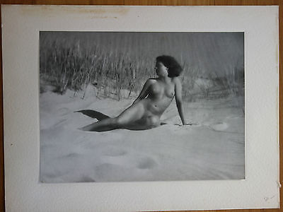 Vintage Art Deco Bruno Schultz Nude Female On Beach Original Photogravure