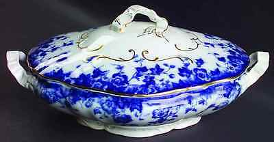 Burgess & Leigh VERMONT (FLOW BLUE) Oval Covered Vegetable Bowl 3363165
