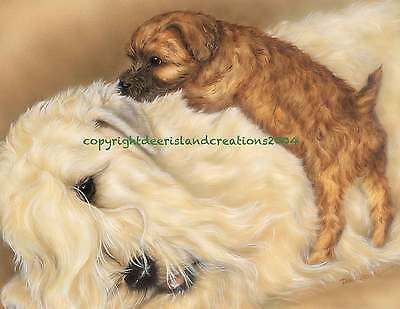 Wheaten Terrier Motherhood note cards   by Darci