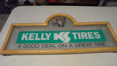 Beautiful Rare Kelly Tires Wood Framed Advertising Sign 30 X 14 Only One On Ebay