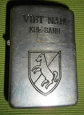 KHE SANH - 1950s ORIGINAL ZIPPO LIGHTER - 11th ARMORED CAVALRY, Vietnam War 8317