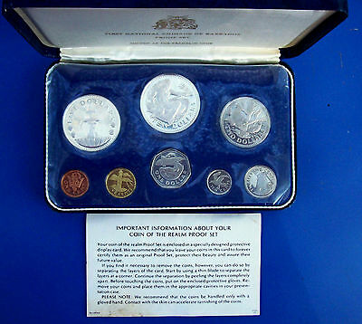 1973 Barbados 8 Coin Proof Set In Case