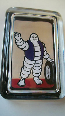 Michelin Tire Man High Five Car Truck Advertising Sign Logo Glass Paperweight