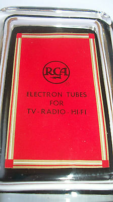 RCA Electronic Tubes for TV Radio HiFi Sign Advertising Glass Paperweight