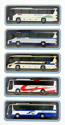 """Tomytec The Bus Collection """"Chuo Expressway Bus"""" 5 Bus Set B 1/150 N scale"""
