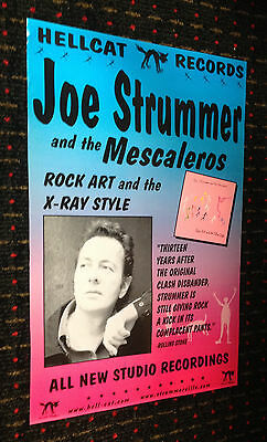 THE CLASH Joe Strummer orig13x19 promo poster Rock Art and the X-Ray Style PUNK