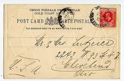 Gold Coast View Postcard (Gc Stamps) Used To Usa 1907                   (J22)
