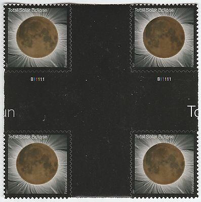 US 5211 Total Eclipse of the Sun forever cross gutter block MNH 2017
