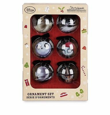 Nightmare Before Christmas Baubles Decorations NEW Disney Jack Oogie Sally Zero