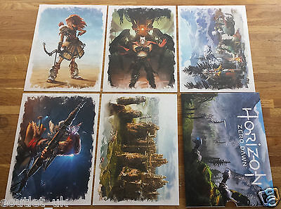Horizon Zero Dawn Colour Art Promotional Cards Collection - New