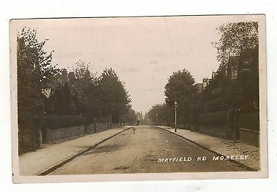 Birmingham,  Mayfield Road,moseley.1911. Old Real Photo Postcard