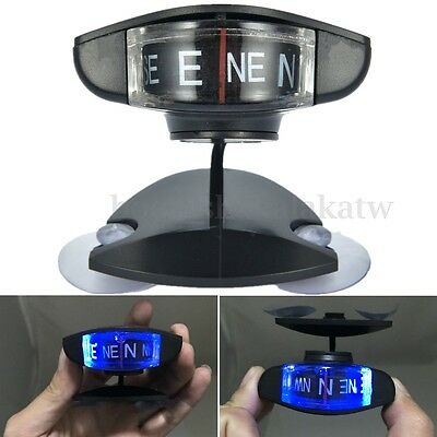 Universal Blue Led Light Compass For Car Truck Scooter Interior Dash/Windshield