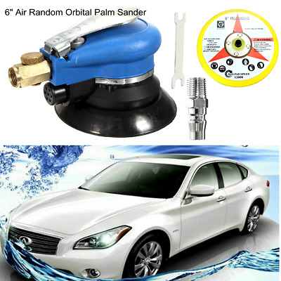 "6"" Air Random Orbital Palm Sander Auto Body Orbit DA Sanding LOW VIBRATION NEW"