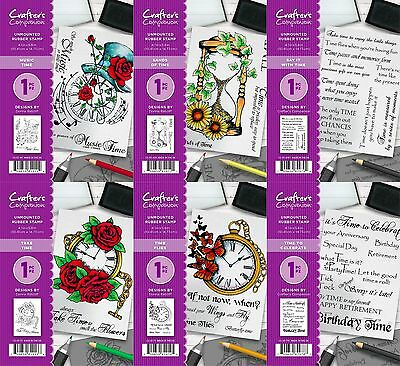 *NEW 2017* Crafter's Companion A6 Unmounted Rubber Stamp - FREE UK P&P