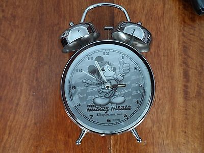 MICKEY MOUSE DUAL ALARM CLOCK - AVIATOR - Official Disney Land Resort Paris