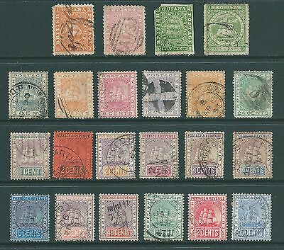 BRITISH GUIANA - Used stamp collection  - 1862-1907