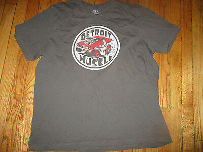 Uber Comfy MADE IN DETROIT Detroit Muscle Logo T Shirt XXL Grey