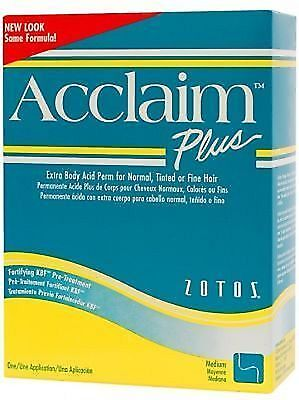 ACCLAIM PLUS Perm Lotion Extra Body NORMAL TINTED or FINE Hair - GREEN PLUS Box