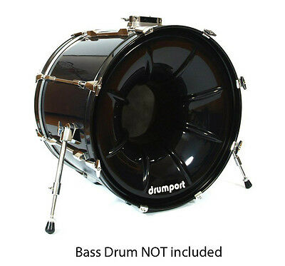 Drumport MP22BLKH Bass Drum Megaport in Black NEW