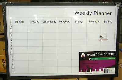 *brand New* Weekly Planner Magnetic White Board ** 60Cm X 40Cm ** Magnetic