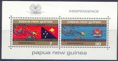 Papua New Guinea 1975 INDEPENDENCE (2+MiniSheet) Unhinged Mint SG294-296MS
