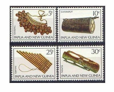 Papua New Guinea 1969 MUSICAL INSTRUMENTS(4) Unhinged Mint SG165-8
