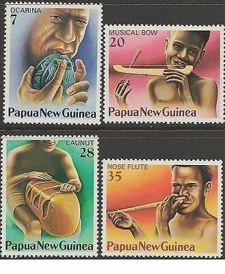 Papua New Guinea 1979 MUSICAL INSTRUMENTS (4) Unhinged Mint SG 359-62
