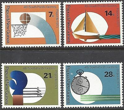 Papua New Guinea 1971 SOUTH PACIFIC GAMES (4) Unhinged Mint SG 200-3