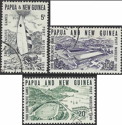 Papua New Guinea 1969 SOUTH PACIFIC GAMES Set (3) Very Fine Used SG 156-8