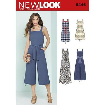 NEW LOOK PATTERN Misses' Jumpsuits &  Dresses SIZE 6 - 18 6446