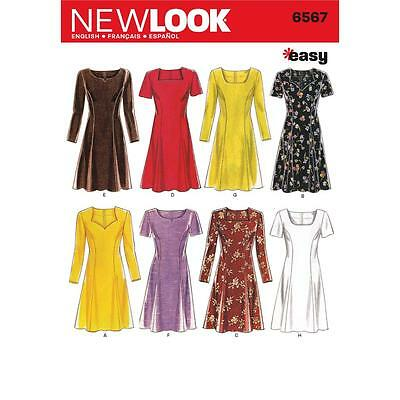 NEW LOOK SEWING PATTERN Misses Dresses EASY SIZE 6 - 16 6567