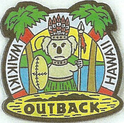 J4074RA Outback Steakhouse  Hawaii Waikiki hat lapel pin