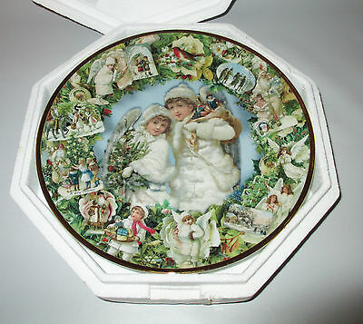 Hamilton Collector Plate Victorian Christmas Memories Angels 1993 Grossman Boxed