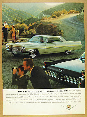 1963 Cadillac Sedan DeVille beige car color photo vintage print Ad