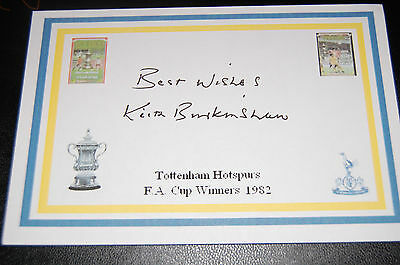 Spurs Keith Burkinshaw Signed 1982 Fa Cup Win Card