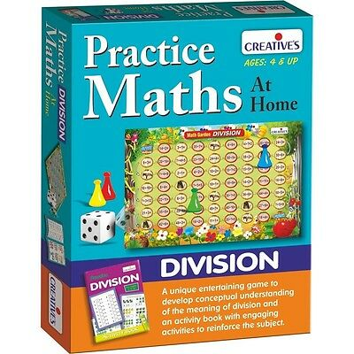 Practice Maths At Home Division Game - Creative Educational Board