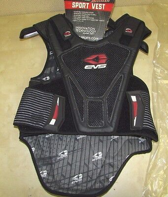Evs   Sport Vest -  Armored Vest With Full Back Protection - Mens Large / Xl