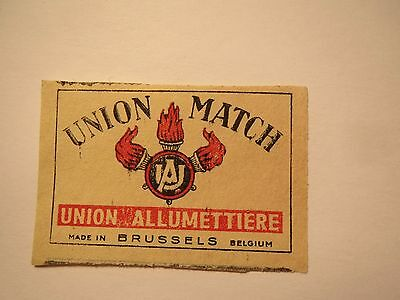 Union Match - Union Allumettiere - Made in Brussels Belgium / Streichholzetikett