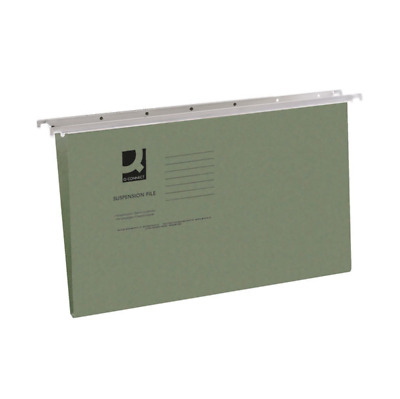 50 Staples Green Foolscap Suspension Files Tabs Inserts Filing Cabinet Folders