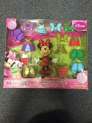Disney Minnie's Holiday Bow-tique Easy Snap On Fashions Bows Shoes &More Ages 2+