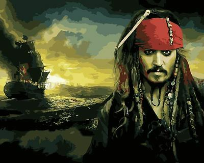 Painting by Number Kit Captain Jack Sparrow Pirates of the Caribbean DZ7282