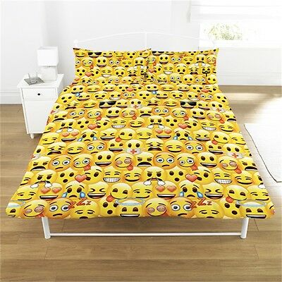 Emoji Rotary Duvet Set, Yellow, Double - Set Cover Yellow Yl Official Bedding