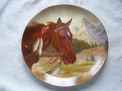 War Ponies Comanche Gregory Perillo Indian Horse Plate