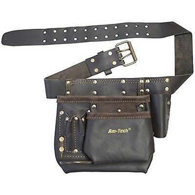 Heavy Duty Multi-pocket Tool & Nail Pouch - Oil Tanned Pocket Multi Leather