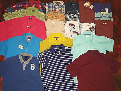 20 pc Vtg 80's Men NOS NWT Levis Wrangler WHOLESALE RESALE Polo Shirts JOB LOT