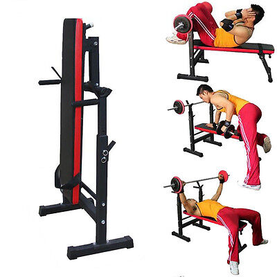 Adjustable Gym Shoulder Chest Press Sit Up Weight Bench Barbell Workout Non-slip