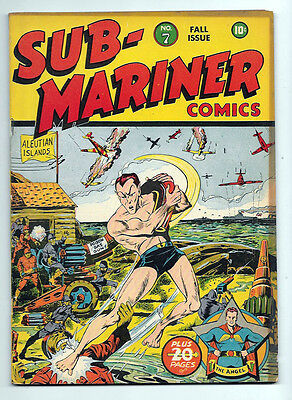 Sub-Mariner Comics #7 Timely! Golden Age Fine- 5.5 War Cover